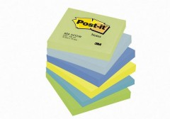 3M Post-It 654-Mtdr Not, Mint Serisi, 5 Renk X 6 Blok, 100 Yaprak, 76X76Mm