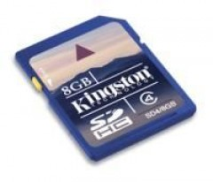 8Gb Secure Digital Kart Bellek Sd4/8Gb Kingston