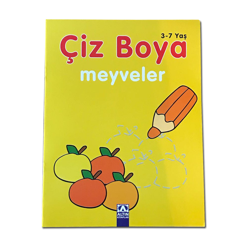 Altın çiz Boya Meyveler Kitabı
