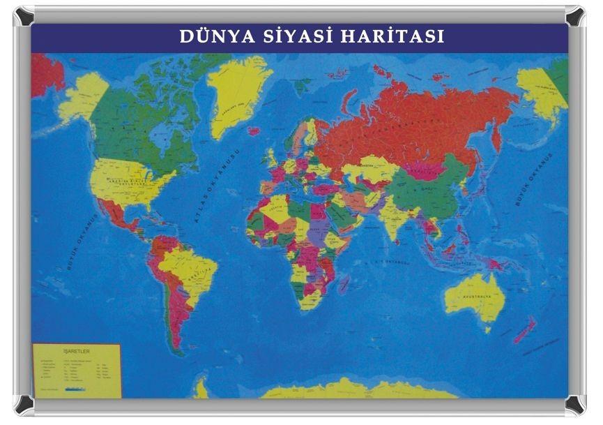 Akyazı Dünya Siyasi Harita 70x100