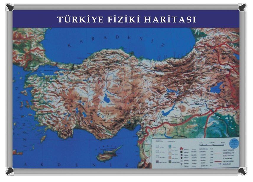 Akyazı Türkiye Fiziki Harita 70x100 Cm