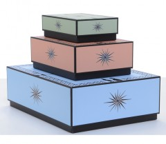 Architectural Watercolors Ornamental Desk Boxes - Set Of 3 Boxes 01094