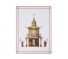Architectural Watercolors Pagodas - Boxed Note Cards 01067