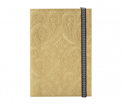 Christian Lacroix A5   Paseo - Embossed Layflat Notebook - Gold 01058