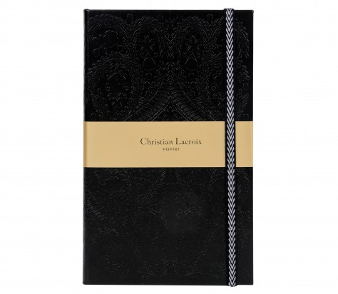 Christian Lacroix A5   Paseo - Slim Hardbound Journal - Black 01100