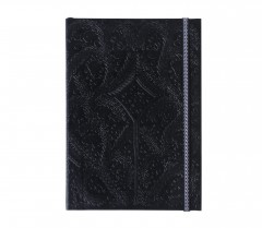 Christian Lacroix A6   Paseo - Embossed Layflat Notebook - Black 01030