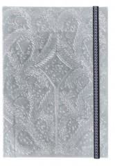 Christian Lacroix B5   Paseo - Embossed Layflat Notebook - Silver 01062