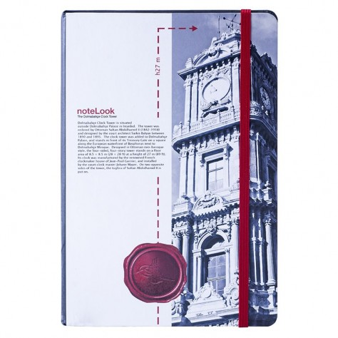 Scrikss Towers Of İstanbul Dolmabahce Saat Kulesi Defter - A5 Çizgisiz