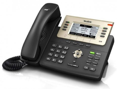 Yealink Sip-T27P Ip Phone Poe, 3.6'' 240*120 Pixel, 6 Sip Line, Stand, Wallmount Headset, Ehs; Support Expansion Modules, With Psu